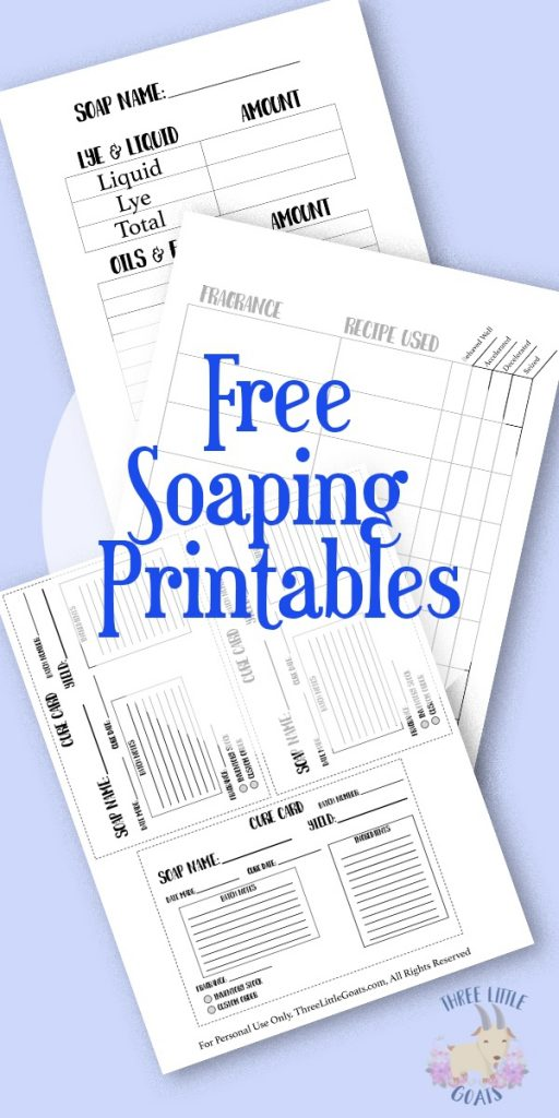 Free Soaping Printables