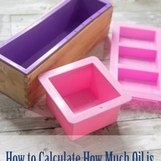 How to Calculate How Much Oil is Needed in a Soap Mold