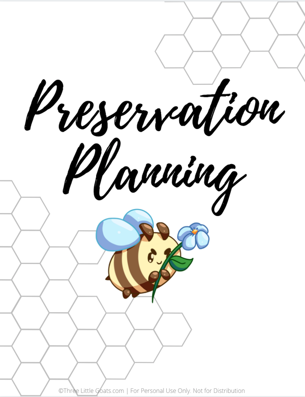Free Homesteading Planner