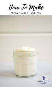 How To Make Goat Milk Lotion