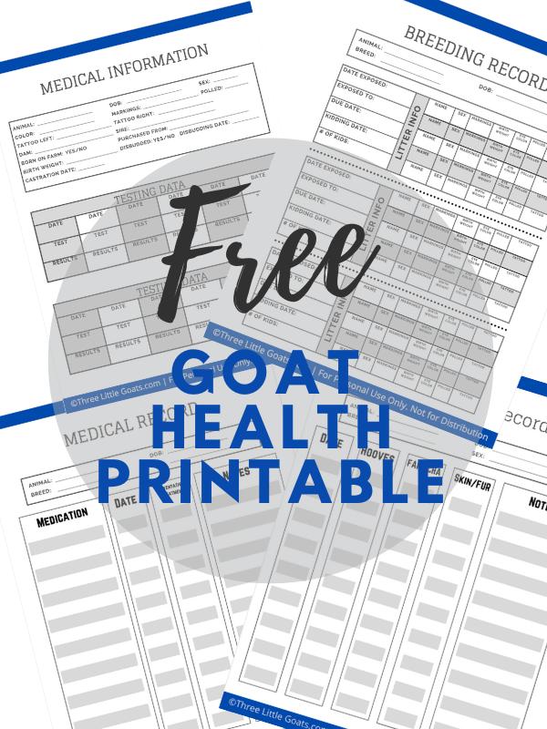 Free Goat Health Printable